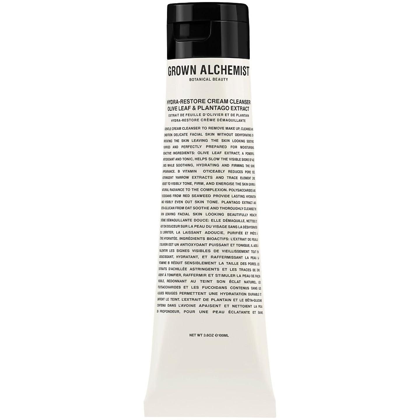 区画ヒョウ後方にオリーブの葉&Plantogoエキス、100ミリリットル:成長した錬金術師クリームクレンザーをヒドラ復元 (Grown Alchemist) (x6) - Grown Alchemist Hydra-Restore Cream Cleanser: Olive Leaf & Plantogo Extract, 100ml (Pack of 6) [並行輸入品]
