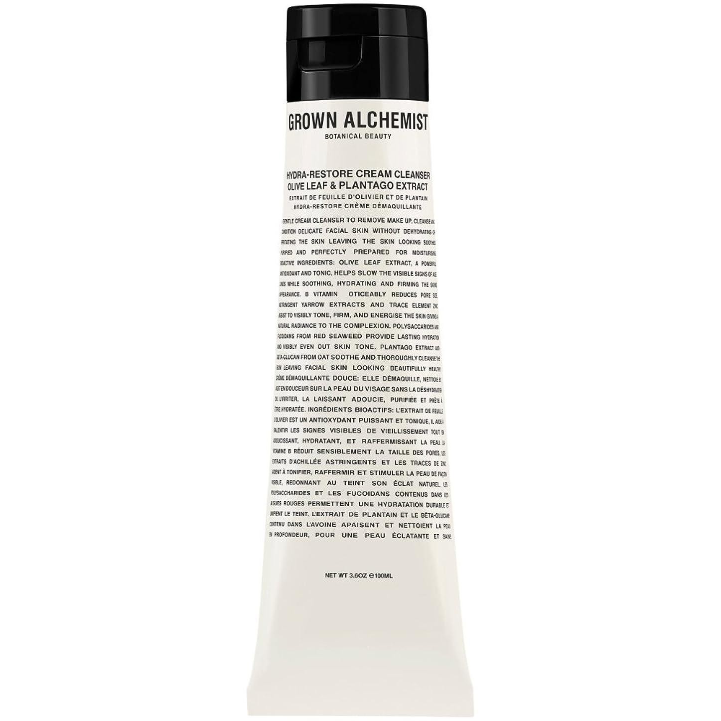 水っぽい医薬品服を片付けるオリーブの葉&Plantogoエキス、100ミリリットル:成長した錬金術師クリームクレンザーをヒドラ復元 (Grown Alchemist) (x6) - Grown Alchemist Hydra-Restore Cream Cleanser: Olive Leaf & Plantogo Extract, 100ml (Pack of 6) [並行輸入品]