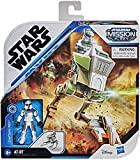 Star Wars Mission Fleet - Captain Rex Clone Combat - at-RT Vehicle and 2.5 inch Figure! Protect The Child!
