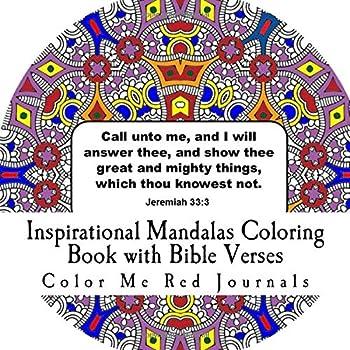 Paperback Inspirational Mandalas Coloring Book with Bible Verses Book