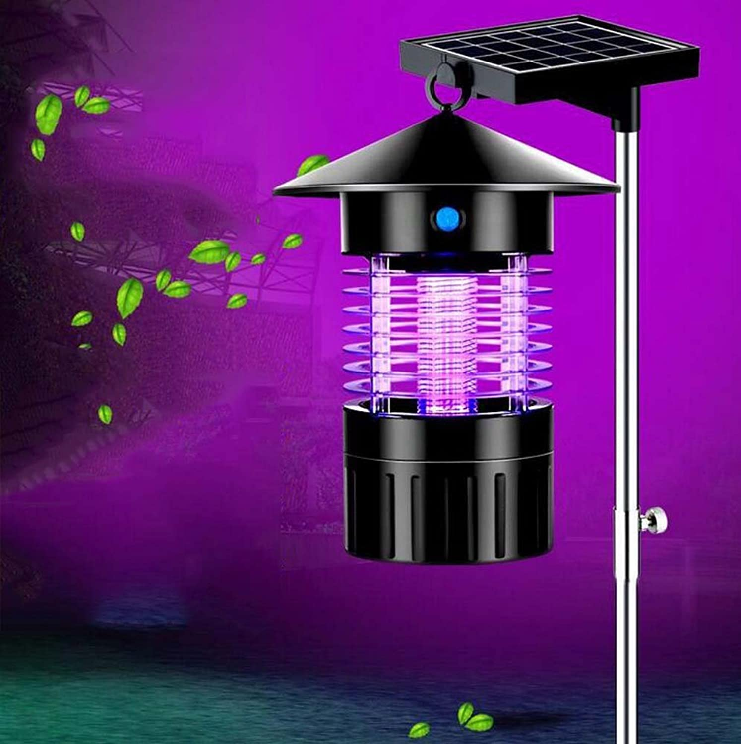 Outdoor Solar Mosquito Lamp, UltraQuiet, No Radiation, Waterproof Mosquitto Killer, Bug Zapper, Professional Electronic Insect Killer, Dual ModesIllumination Mosquito Control, USB Charging