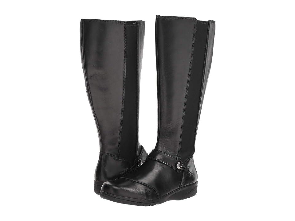Clarks Cheyn Meryl Wide Calf (Black Leather) Women