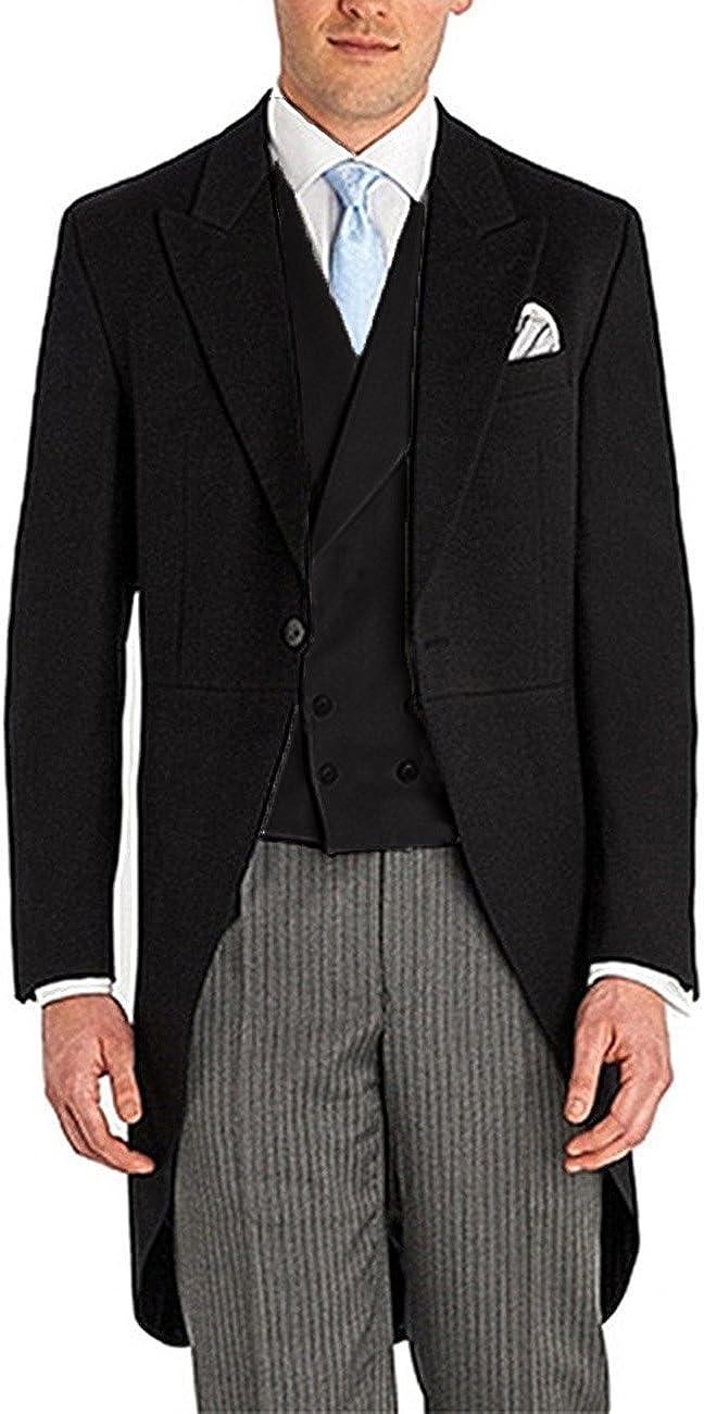 Men's Retro 3 Pieces Shawl Lapel One Button Tuxedos Business Suit Sets for Wedding(Burgundy,36US/UK & 44EU)