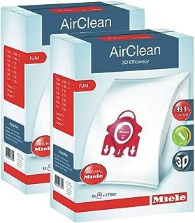2 X Miele 10123220 AirClean 3D Efficiency Dust Bag, Type FJM, 4 Bags & 2 Filters