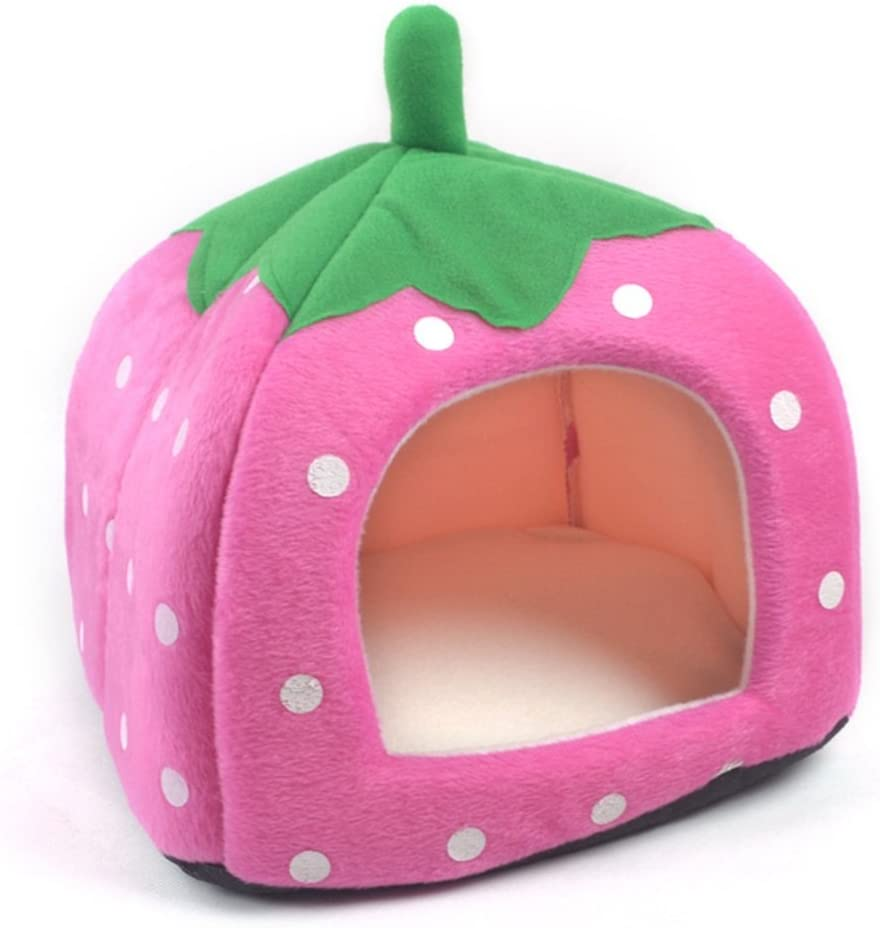 WOWOWMEOW Guinea-Pigs House Bed Award Max 49% OFF Small Animal War Tent Strawberry