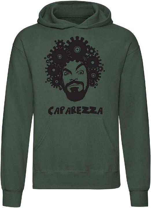 Felpa con cappuccio caparezza, unisex art t-shirt B085VFST98