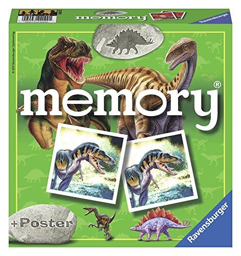 Ravensburger 22099 Memory, Dinosaurios, Juego de Mesa, Juego Memory, 72 tarjetas, Edad recomendada 4+