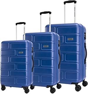 American Tourister Luggage Trolley Bags 3 Pcs, Blue, Unisex