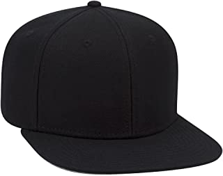 OTTO Wool Blend Twill Square Flat Visor SNAP 6 Panel Snapback Hat