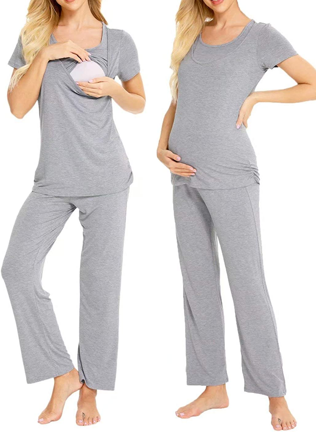 LecGee Labor Delivery Maternity Nursing Max Max 64% OFF 75% OFF Sets Loungewear Pajama f