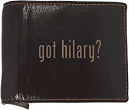 got hilary? - Soft Cowhide Genuine Engraved Bifold Leather Wallet