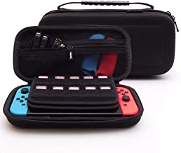 Soyan Hard Carrying Case for Nintendo Switch, Build-in 20 Game Card Holders and Secure Strap