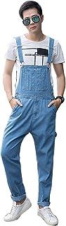 オーバーオール メンズ サロペット つなぎ デニム ストレッロングパンツ 無地 オーバーオール メンズ 大きいサイズ 作業服 デニム オーバーオール ジーンズ デニムパンツ インディゴ