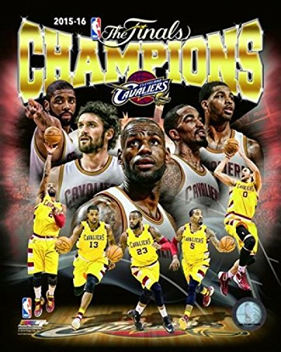 Cleveland Cavaliers 2016 NBA Champions Stampa fotografica Composita (27,94 x 35,56 cm)