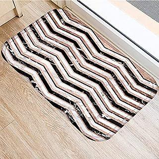HLXX Stone Stripe Marble Pattern Anti-Slip Suede Carpet Door Mat Doormat Outdoor Kitchen Living Room Floor Mat Rug A4 40x60cm