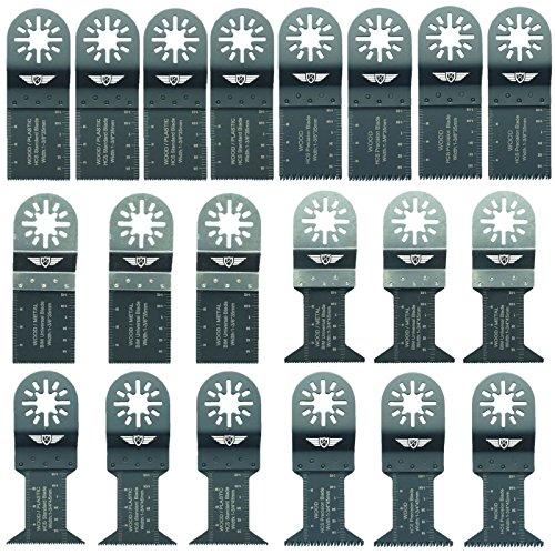 20 x TopsTools UNK20 Mix Klingen für Bosch Fein (Nicht-StarLock) Makita Milwaukee Einhell Ergotools Hitachi Parkside Ryobi Worx Workzone Multi Tool Multifunktionswerkzeug Oszillierwerkzeug Zubehör