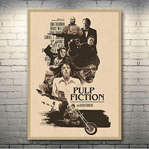 shuimanjinshan Pulp Fiction Hot Movie Poster Art Canvas Retro Print Poster For Living Room Decor Bar Decoration-002 50X70Cm No Frame Egm-2018