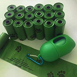 CVNT 9 x 13 Inch Dog Poop Bags Enhanced Strong and Biodegradable Dog Waste Bags with Dispenser - 270 Bags