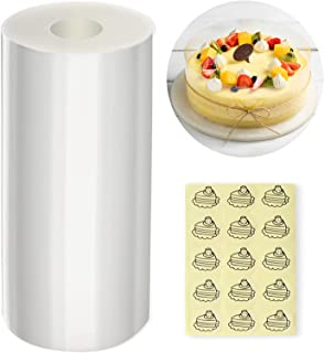 Anvin Cake Collars 4 x 394 inch, Acetate Sheets Cake Rolls for Baking Mousse Cake Clear Cake Strips Transparent Cake Sheet...