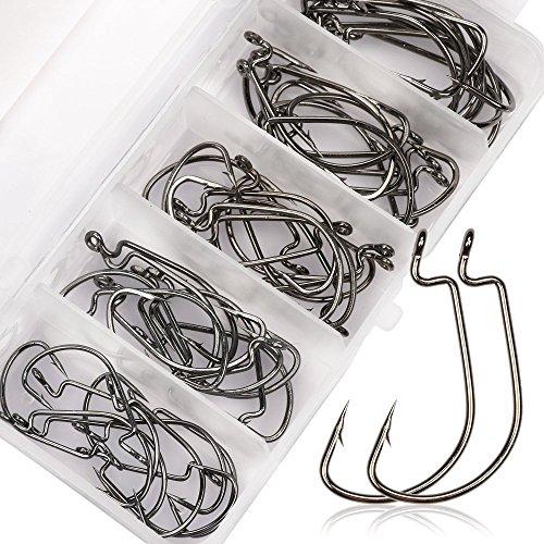 Goture ゴチュール フック 釣り針 フィッシュフック カン付チヌ マルチサイズ 500個 セット 50個 ワー