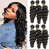 QTHAIR 12A Grade Brazilian Loose Wave Hair Bundles 28 Inch 100% Virgin Unprocessed Brazilain Virgin Human Hair Extensions 100g a Pack Cheap Long Hair Weave Natural Color