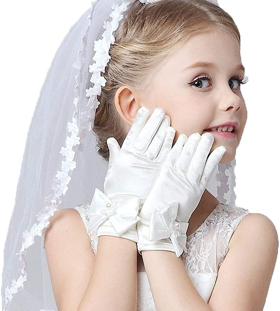Girls Veil First Communion, First Holy Communion Veils And Gloves For Girl…