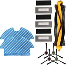 DIY 4X Side Brushes+3X Filters for Deebot Ozmo 900 Filter Brush Mop Cloth Set Vacuum Cleaner Parts Cleaning Tools