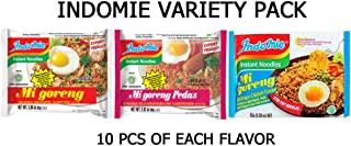 Indomie Variety Pack - Original, Hot, and BBQ (Pack of 30)