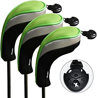 Andux 3pcs/Set Golf Hybrid Club Head Covers Interchangeable No. Tag Pack of 3