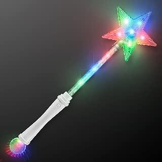 FlashingBlinkyLights Light Up White Super Star Princess LED Wand