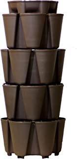 GreenStalk Huge 4 Tier Vertical Planter – for Urban and Small Space Gardening (Chocolate Brown)