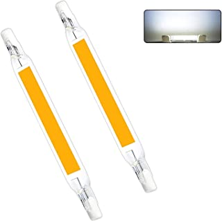 AEUWIER R7S LED 118mm Blanco Frio, 1300LM, 15W para Sustitución de Halógeno de 100W 120W, No Regulable para Plafones, Lámpara en el Baño, pack de 2
