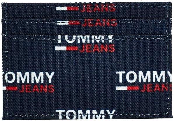TOMMY HILFIGER Men's Case Wallet Credit Card Holder, Print, One Size