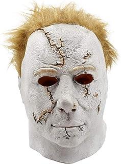 KTYX マスクフードムービー月光ぼやけた白い顔のホラーラテックス マスク
