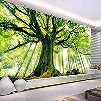 Djskhf 3Dグリーンギグツリー自然風景写真壁画壁のリビングルームの背景の装飾カスタマイズされたサイズ不織布わら壁紙 280X200Cm