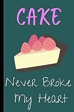 Cake Never Broke My Heart: Cute cake journal notebook for Women