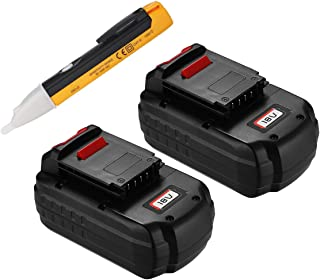 Upgraded Powerextra 2 Pack 18V 3.7Ah Replacement Battery Compatible with Porter Cable PC18B-2 18-Volt Cordless Tools Batteries(with a free voltage tester pen)