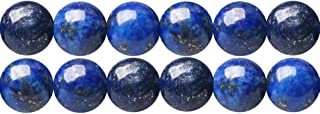 Dyed Lapis Lazuli Blue Semi Precious Stone Round 8mm Spacer Beads to Make DIY Necklace Bracelet Earrings Sold by One Strand 15 Inch APX 46 Pcs