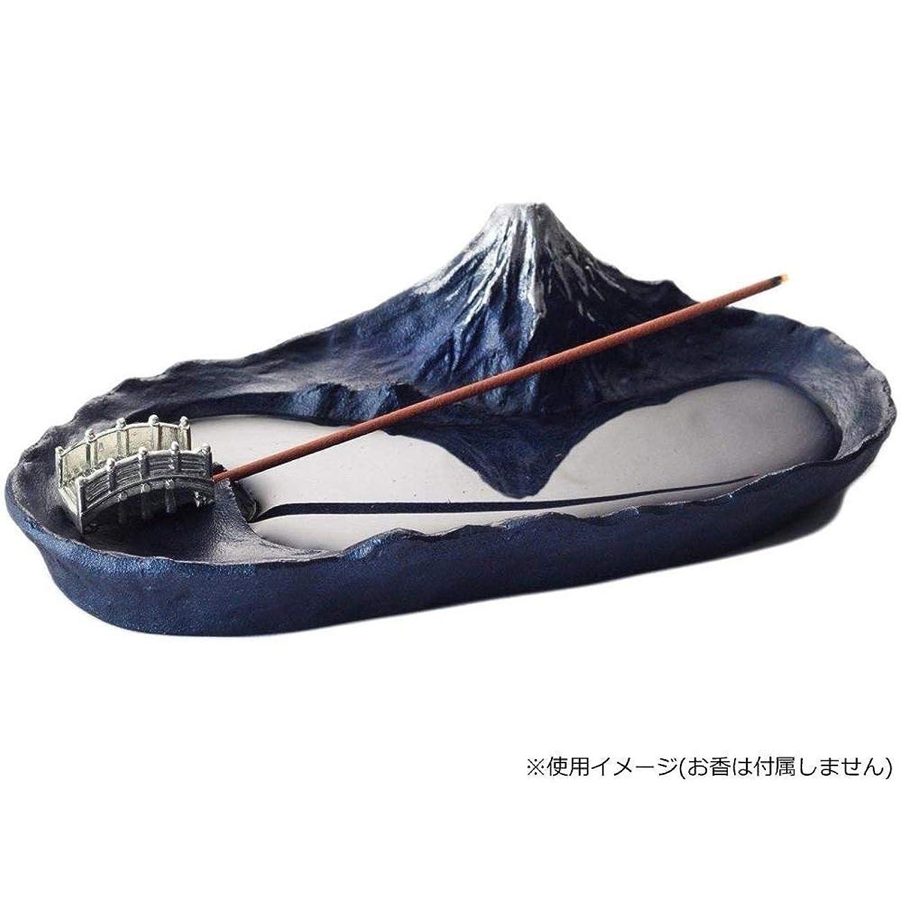 かき混ぜる奇跡的な分数インセンスホルダー 香立て さかさ富士 青富士