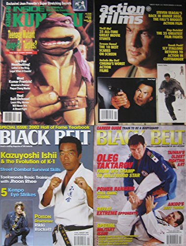 Mixed Lot Of 4 Martial Arts Magazines Steven Seagal Sly Stallone Teenage Ninja Turtles Covers