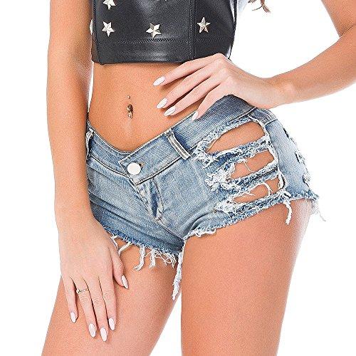 Nuevo Verano Sexy Club Nocturno Vestido de Noche Pantalones Cortos de Mezclilla de Cintura Baja Pantalones Cortos Jeans