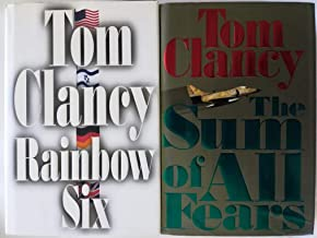 Set of 2 First U.S. Edition First Printing Novels by Tom Clancy: The Sum of All Fears (1991) and Rainbow Six (1998)