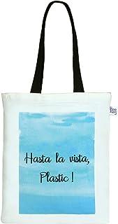 EcoRight Reusable 100% Cotton Canvas EcoFriendly Zipper Tote Bag Printed