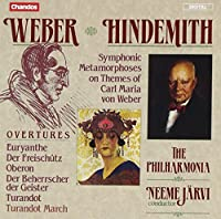 Weber: Overtures; Hindemith: Symphonic Metamorphoses on the Themes of Carl Maria von Weber (1989-08-22)