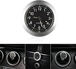 ONEVER Car Air Vent Quartz Clock, Car Dashboard Clock Mini Round Analog Quartz Clock Battery Operated Auto Clock Perfect Decoration for Cars, SUV and MPV, 1.4inch Diameter