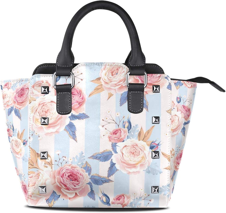 My Little Nest Women's Top Handle Satchel Handbag pink Ladies PU Leather Shoulder Bag Crossbody Bag