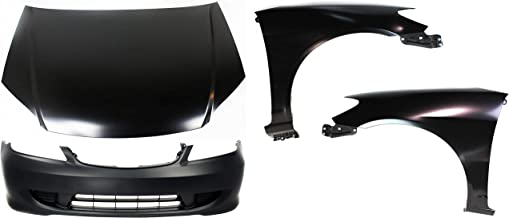Bumper Cover Kit Compatible With 2004-2005 Honda Civic Bumper Cover Hood Fender