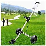 COSCANA Golf Push Cart, Carrello da Golf A 2 Ruote Girevole Un Secondo Carrello da Golf Pieghevole con Tastierino Multifunzione, Carrelli da Golf Pull Multifunzione