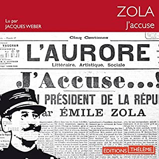 J'accuse !                   By:                                                                                                                                 Émile Zola                               Narrated by:                                                                                                                                 Jacques Weber                      Length: 34 mins     Not rated yet     Overall 0.0