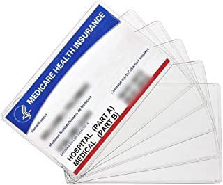 New Medicare Card Holder Protector Sleeves, 12Mil Clear PVC Soft Waterproof Medicare Card..